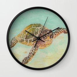 Sea Turtle Watercolor Wall Clock