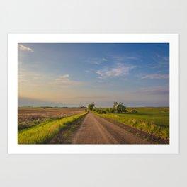 Country Road, North Dakota 24 Art Print