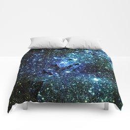 Ocean Blue Space Galaxy : Eagle Nebula Comforters