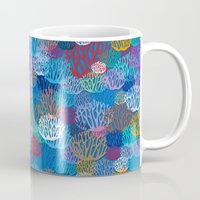 coral Mugs featuring Coral by Helene Michau
