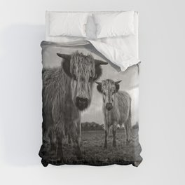 Two Shaggy Cows Comforters