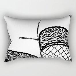 Another Lush Curve (Black & White) Rectangular Pillow