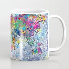 world map colors splats 2 Coffee Mug