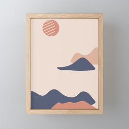 abstract minimal modern art  cityscape landscape sea nature natural Framed Mini Art Print