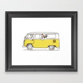 VW Van lovers art print Framed Art Print