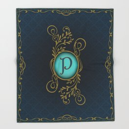 Letter P Throw Blanket