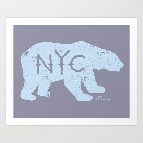 Polar Bear NYC aka Polar Opposites Art Print