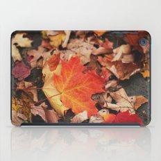 crimson leaves iPad Case