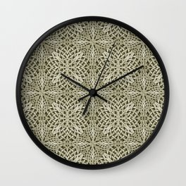 Silver Intricate Arabesque Pattern Wall Clock