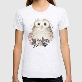Boho Illustration- Be Wise Little Owl T-shirt