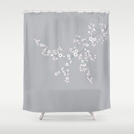 Abstract Japanese Floral Shower Curtain
