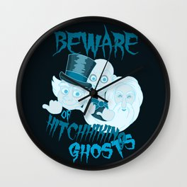 Beware of Hitchhiking Ghosts Wall Clock