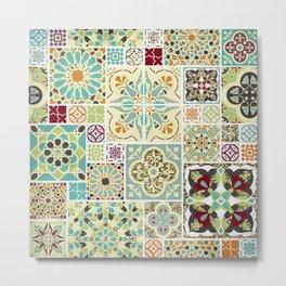 Moroccan Tile Pattern II Metal Print
