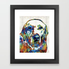 Labrador Retriever Art - Play With Me - By Sharon Cummings Framed Art Print