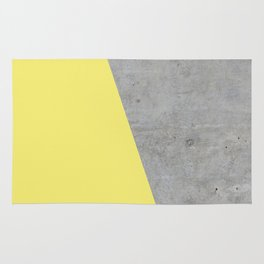 Concrete and Yellow Color Rug