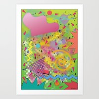 fresh prince Art Prints featuring Fresh Prince by TheArtGoon