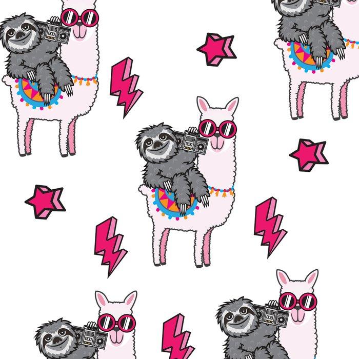 Sloth Music Llama Leggings