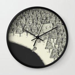 'Isolation' (B&W) Wall Clock