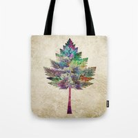 city Tote Bags featuring Like a Tree 2. version by Klara Acel