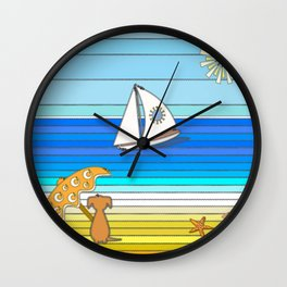 Summertime and the Living is Easy Wall Clock