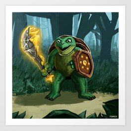 Turtle Paladin Art Print