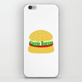 Veggie Burger - Vegan - Meatless iPhone Skin