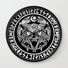 Viking Fenrir Emblem - Wolf Norse Mythology Wall Clock