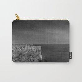 Cabo de S. Vicente, Sagres, Algarve Portugal. Black and white version. Carry-All Pouch