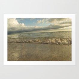 Bradenton Florida Beach at Sunset with Waves Art Print