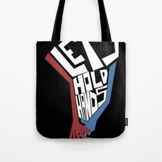 Let's Hold Hands Tote Bag