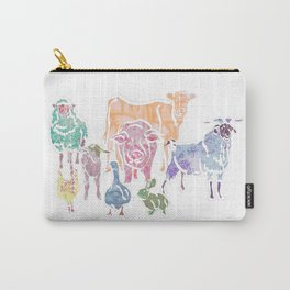 The Colourful Farm Sanctuary Carry-All Pouch