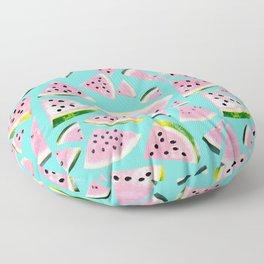 Watermelon Twist Vibes #2 #tropical #fruit #decor #art #society6 Floor Pillow