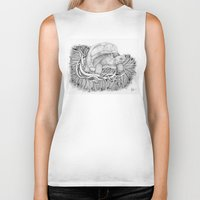 tortoise Biker Tanks featuring Tortoise by Squidoodle