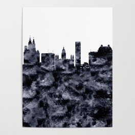 Liverpool Skyline Great Britain Poster