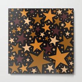 Toasted Caramel Stars Metal Print