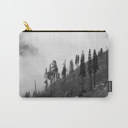 Mountains, Valleys and Forests. Yosemite National Park, Black and White Photography, Clouds and Fog Carry-All Pouch
