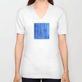 Blue mathematical equations pattern Unisex V-Neck