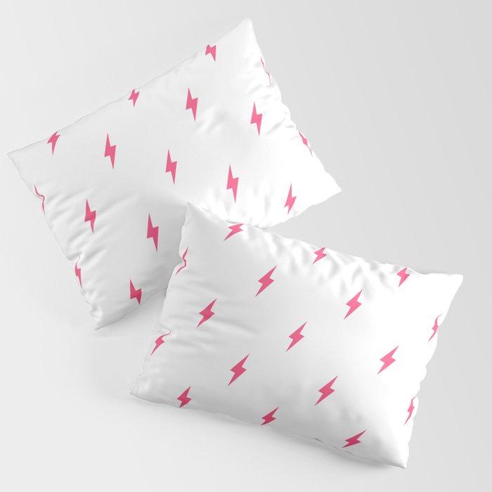 Lightning Bolt Pattern Pink Kissenbezug