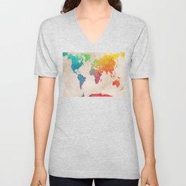 world map 21 #map #maps #world Unisex V-Neck