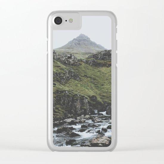 Mjóifjörður, Iceland II Clear iPhone Case