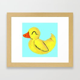 Happy Ducky Framed Art Print