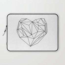 Heart Graphic (black on white) Laptop Sleeve