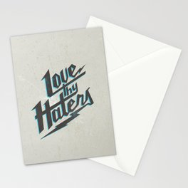 Love Thy Haters - White Stationery Cards
