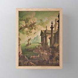 Ulysses Farewell to Penelope Seaport Landscape by Rex Whistler Framed Mini Art Print
