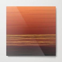 Horizon (orange) Metal Print