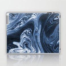 Ren - indigo ink india ink marble pattern texture art print cell phone case with marble blue joy Laptop & iPad Skin