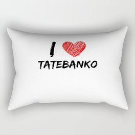 I Love Tatebanko Rectangular Pillow