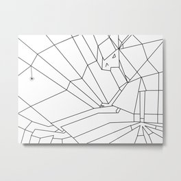 Webbed Unicorn Metal Print