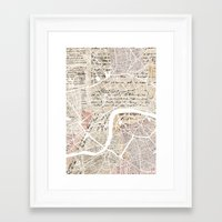 london map Framed Art Prints featuring London map by Mapsland