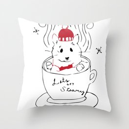 Let's Get Steamy Throw Pillow